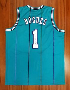 Tyrone Muggsy Bogues Autographed Signed Jersey Charlotte Hornets JSA
