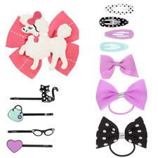 Gymboree Posh and Playful Barrettes Pony Clips Poodle Dot Purple 2014