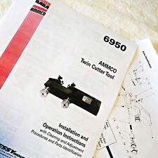 Ammco 6950 Twin Disc Cutter Installation Operation Amp Parts Manual Data Sheet
