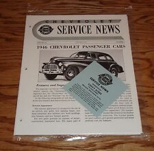 1946 Chevrolet Service News Magazines Complete Year 46 Chevy