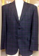 David August Jacket Blue Black And Dark Pink Cashmere   42 Short