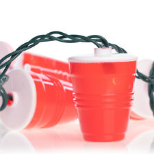 10 Ct Red Party Cup String Lights Set Indoor Outdoor Fun Celebration Party Décor