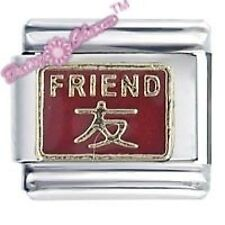 CHINESE SYMBOL FRIEND - Daisy CHARM Italian Charm Fits Nomination Classic Size