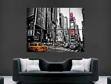 NEW YORK TIMES SQUARE YELLOW TAXIS LARGE WALL ART POSTER PICTURE