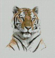 "Tiger Head Counted Cross Stitch Kit 8"" x 8.25"" A2150"