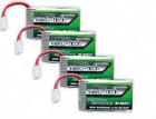 4pcs Turnigy Nano-Tech 750mAh 1S LiPo Battery 35C with Micro JST Connector Plug