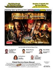 Paper Copy: Stern Pirates of the Caribbean FULL Pinball Service & Repair Manual