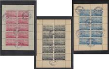 Stamps of Polish DP Camps in Bavaria, VFU sheetlets, 3 diff. camps cxls