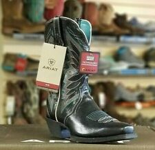 "*NIB* Women's Ariat Western Boots 10018571 - 10"" Autry Old Black Square Toe"