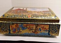 Vtg E. Otto Schmidt Nuremberg Germany 1992 Biscuit Tin Large Collectible