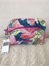 Vera Bradley Iconic Medium Cosmetic Bag Superbloom Travel Quilted Nwt Msrp $34