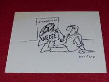 [BD DESSIN HUMOUR PRESSE PUB] STRIDO / DESSIN ORIGINAL SIGNE Pub 25x20,5 ca 1960