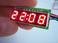 "0.28"" Digital Electronic Clock 12V 24V Car Motorcycle LED Watch time Display RED"