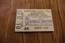 TICKET GEORGE BENSON 1977 USA