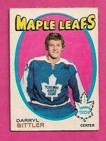 1971-72 OPC # 193 LEAFS DARRYL SITTLER 2ND YEAR GOOD CARD (INV# C9603)