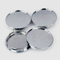4Pcs/Set Universal 68mm Silver Chrome Car Wheel Center Hub Caps Covers  No Logo