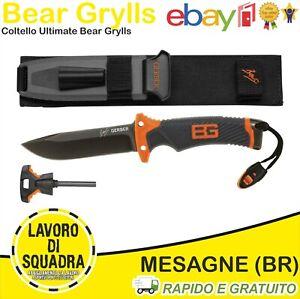 Couteau Bear Grylls Ultimate Chasse Pêche Outdoor Noir/Orange avec Accessoires