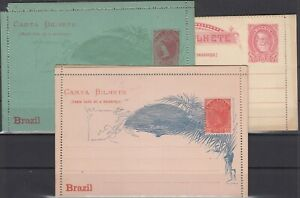 FD10964/ BRAZIL – POSTAL STATIONERY – H&G # A15 – A18 b – A26 a MINT MNH