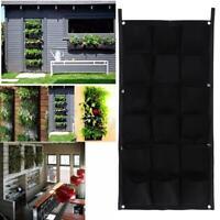 18Pocket Hanging Vertical Garden Planter Indoor Outdoor Herb Pot Home Wall Decor