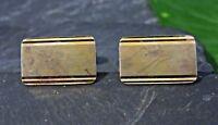 Super 835 Silber Manschettenknöpfe Vergoldet Rillen Signiert Cufflinks Retro