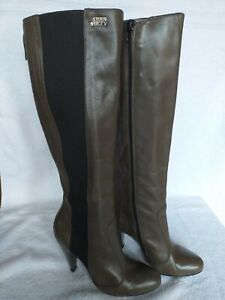 Miss Sixty women's olive green and black high heel boots  UK 5 EUR 38