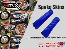 """Wheel Spoke Protectors Blue 18"""" 21"""" fits Yamaha DT125 R E 04-06"""