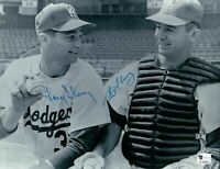 Larry & Norm Sherry Dual Signed 8X10 Photo Autograph Dodgers Thin Auto GAI COA