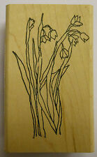 Spring Flowers Rubber Stamp PW F1781