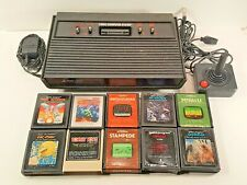ATARI 2600 DARTH VADER BLACK CONSOLE BUNDLE WITH 1 CONTROLLER, 10 GAMES TESTED