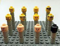 Lego Minifig Köpfe aus allen Themen Minifigur viele Farben große Auswahl 40 K
