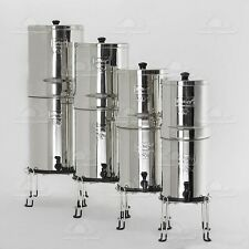 "Big Berkey Water Purifier 2 Black BB9 Filters + 7.5"" Water Level Spigot + Stand"
