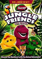 NEW CHILDREN DVD + CD  // BARNEY // JUNGLE FRIENDS the MOVIE // 51 min