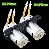 Hot DC 12V D2 2*4mm D4 3*5mm Dosing Pump Peristaltic Head for Lab Chemical Water