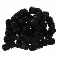 30 Pcs PG7 Waterproof Connector Gland Black for 4-7mm Diameter Cable M4G7