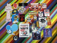 1990s to 2010s graffiti art pop sticker - Dalek Obey English F'ing Awesome +