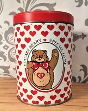 Vintage Valentine's Day You Are Beary Special To Me Tin Red Bear Hearts #379