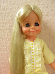 "1970s VINTAGE IDEAL""TALKY"" VELVET GROWING HAIR DOLL-CRISSY'S COUSIN-SHE TALKS!"