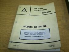Allis Chalmers Combine Models N5 and N6 Parts Catalog