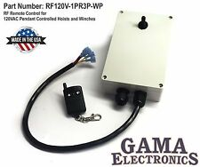 Remote Control for 120VAC Pendant Controlled Hoists and Winches - RF120V1PR3P-WP