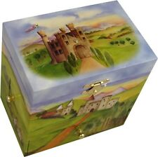 'Enchanted Castle' Secret Musical Jewellery Box Girls Wind Up Music Box