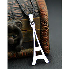 Classic Paris Eiffel Tower Stainless Steel Necklace