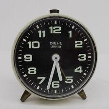 VINTAGE ALARM CLOCK-Stupendo Orologio da tavolo meccanico Diehl diletta SVEGLIA OROLOGIO TAVOLO 60er