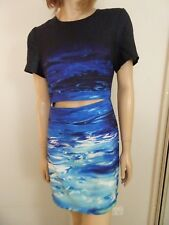 GAME GIRL Blue Surf Print Dress Sz 12 New With Defects