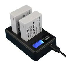 2-Pack 1800mAh LP-E8 Replacement Battery+USB Dual Charger Kit for Canon 600/700D