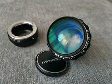 Minolta Rokkor MC 58 mm f1.2 fast portrait lens rare coating bokeh MINT