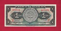 """RARE Mexico UNC AZTEC Note: 1 One Peso 1970 """"BIP"""" (07/22/1970) (Pick-59l.2) ABNC"""
