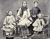 """oil painting on canvas """"A Chinese Mother with Nurse and Children """"@N12668"""