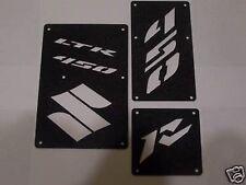 Suzuki LTR 450 450R Fender Warning Tags Black /NO decal