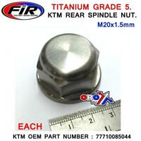 NEW TITANIUM REAR WHEEL AXLE SPINDLE BOLT NUT KTM 125 250 350 450 SX/SXF 03-12