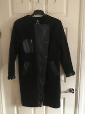 River Island Coat Size 8 Real Leather Details RRP £280